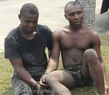 See the Two Armed Robbers Arrested While Robbing Banks in Rivers State (Photo)