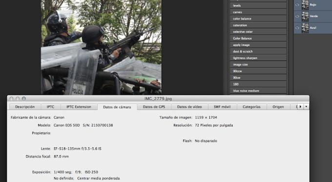 CNS DIJO QUE SON FALSAS FOTOS DE POLICÍAS ARMADOS; XINHUA PRUEBA AUTENTICIDAD CON METADATOS (FOTOS)