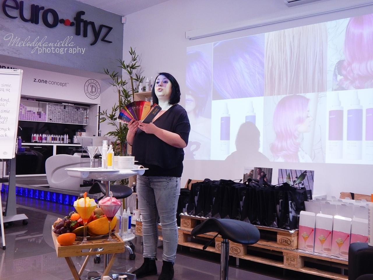 9  relacja spotkanie blogerek akademia z.one concept łódź szkolenia dla fryzjerów akademia fryzjerska koloryzacja melodylaniella jak dbać o włosy pielęgnacja koloryzacja włosów