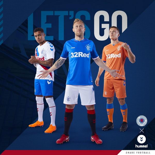 El nuevo replicas camisetas futbol Rangers FC 2018-2019 baratas es el Royal  Blue tradicional con paneles laterales que llevan cuatro icónicos emblemas  ... 14506d09e03f6