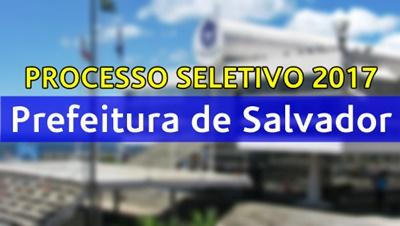 Concurso Prefeitura de Salvador BA 2017
