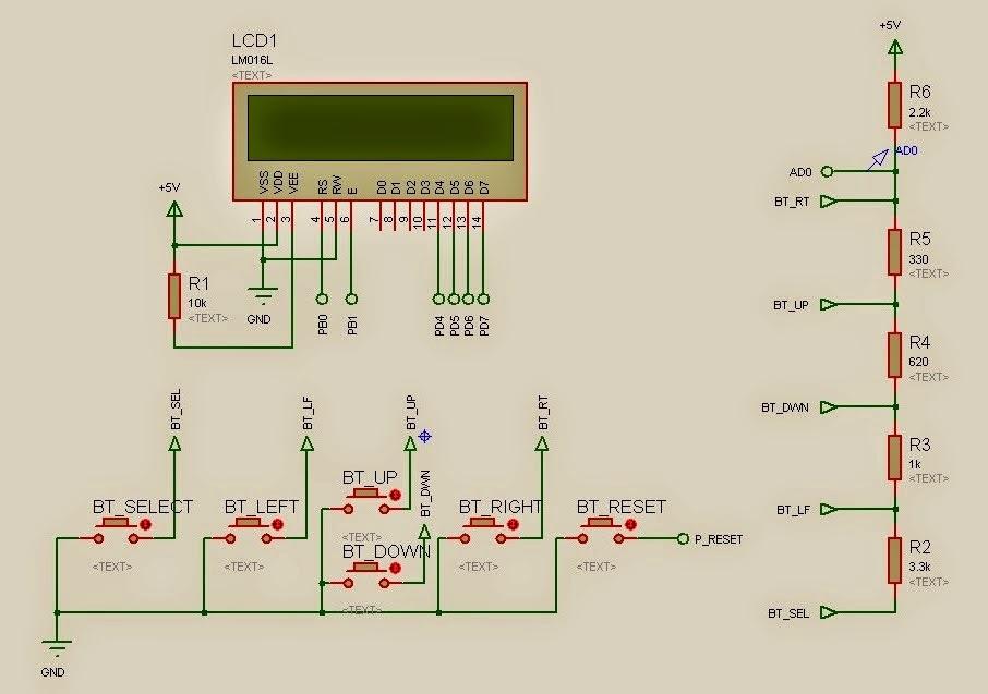 laborat rio de arduino lcd keypad shield. Black Bedroom Furniture Sets. Home Design Ideas