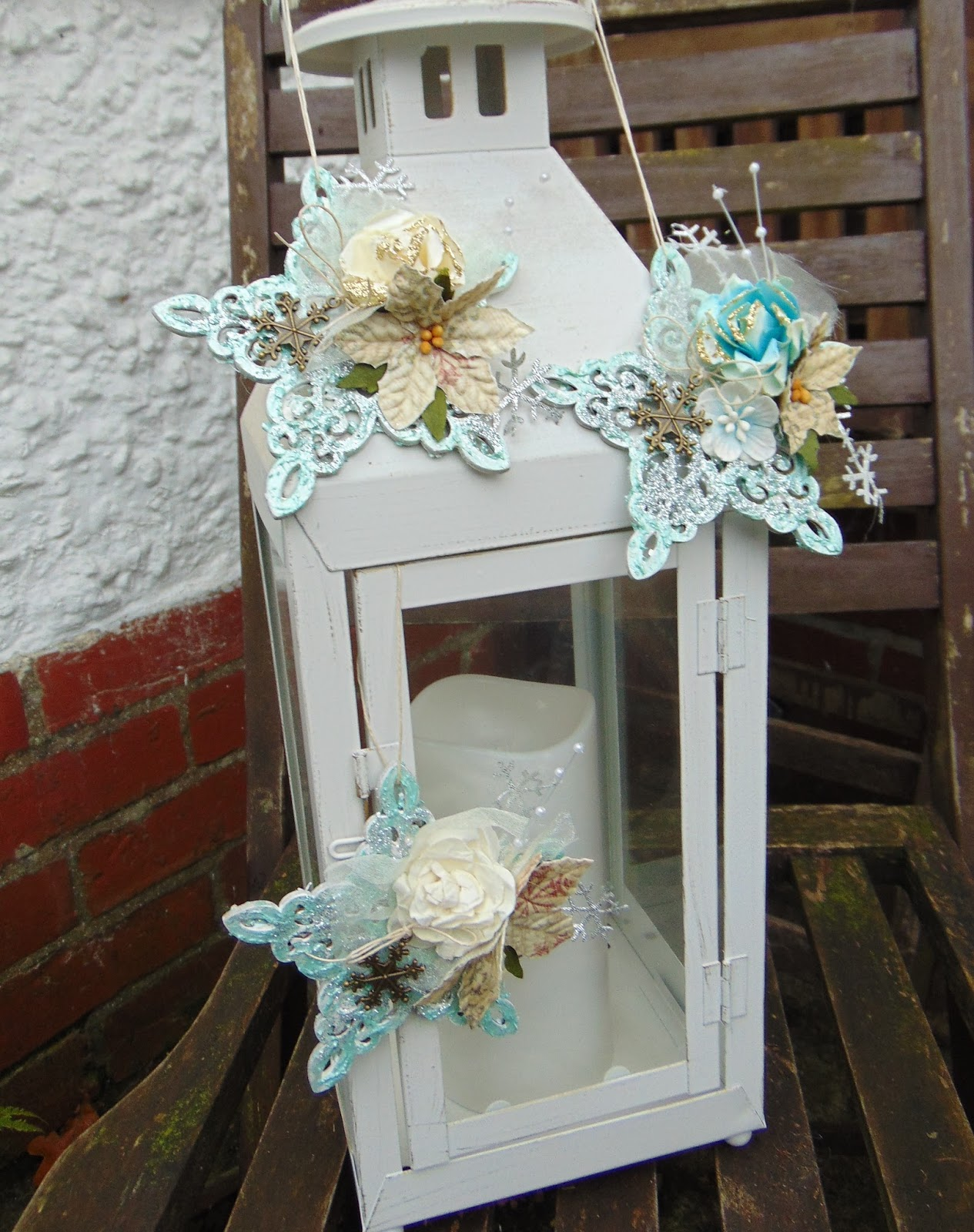 My Crafty Madness: Shabby Chic Christmas Decorations