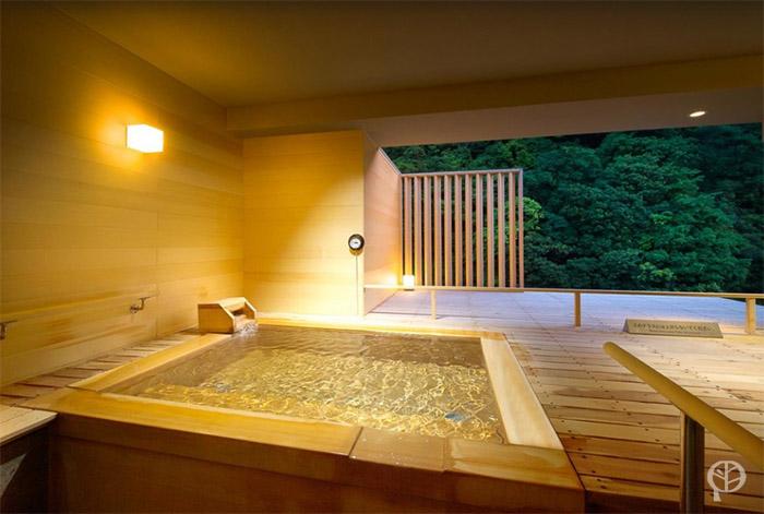 salle de bain privée kumo hakone pax yoshino bassin