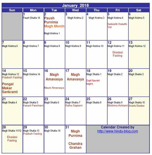 link download hindu calendar 2018 with tithi in pdf