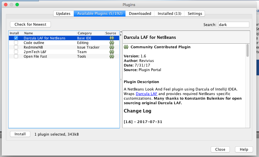 COOL IT HELP: How to apply dark theme in NetBeans IDE on MAC?