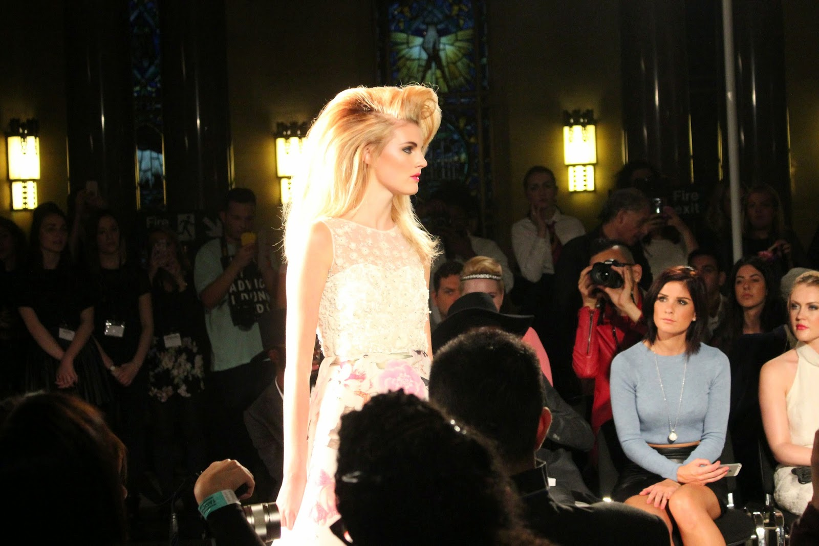 london-fashion-week-2014-lfw-spring-summer-2015-blogger-fashion-Hema-Kaul-catwalk-models-freemasons hall-fashion-scout-top-skirt