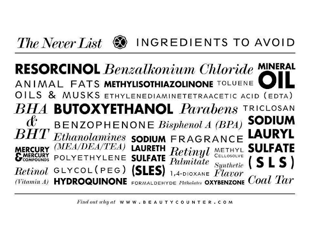 ingredients that should never be in beauty products via Beautycounter