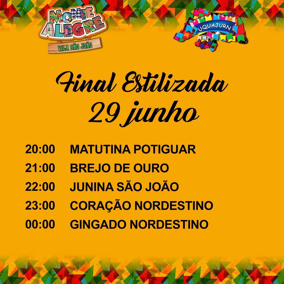 8807063193d14 NESTA SEXTA-FEIRA (29) TEM A GRANDE FINAL DA CATEGORIA ESTILIZADA DO  FESTIVAL DE QUADRILHA JUNINAS DE MONTE ALEGRE