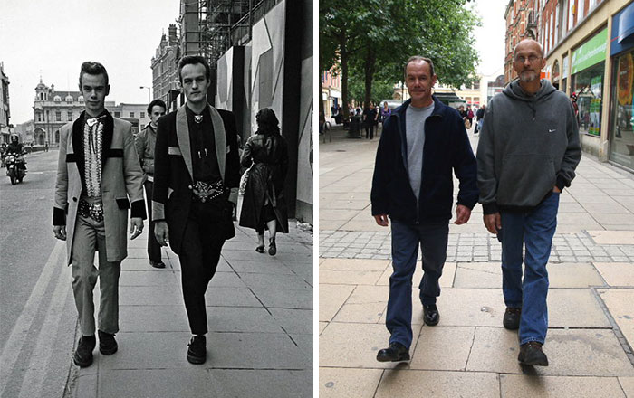 Photographer Recaptures Old Pictures Creating A Beautiful Reunion Of People He Photographed Decades Ago - lan Medler And Peter Yates (1980 And 2010)