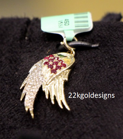 Stylish Ruby Diamond Pendant