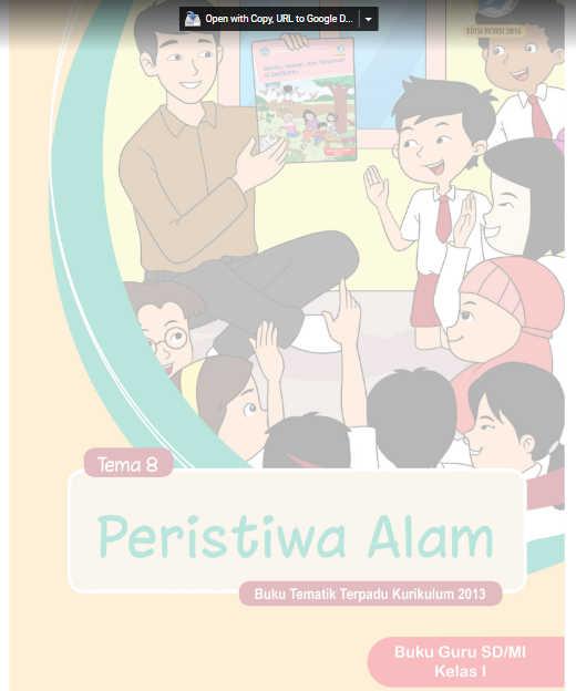 Buku Guru SD Kelas 1 Kurikulum 2013 Revisi 2016 Tema 8