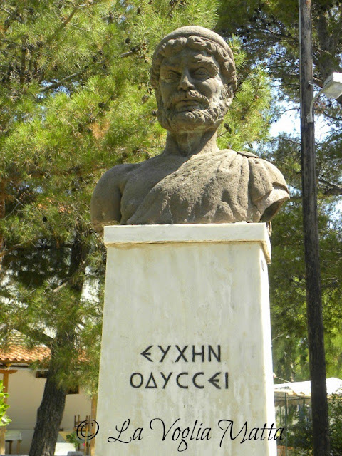 busto di Ulisse a Itaca