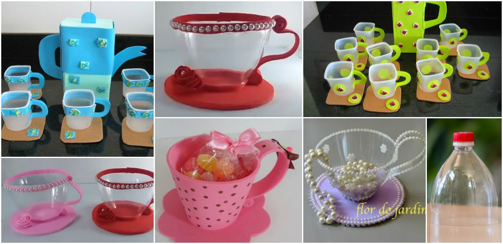 Haz tazas de juguete para ni os reciclando botellas de for Juego de tazas de te
