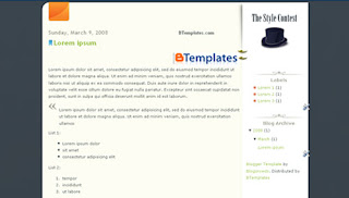 Shlyapa Blogger Template