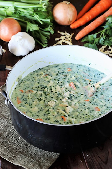 Creamy Turkey Soup with Spinach photo