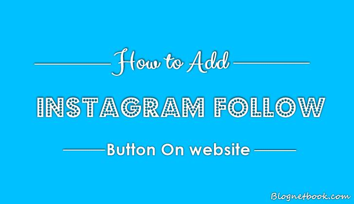 instagram follow button for blog website