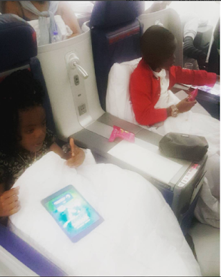 Basketmouth's wife, kids off to Houston, USA to enjoy holiday with daddy! (photos)