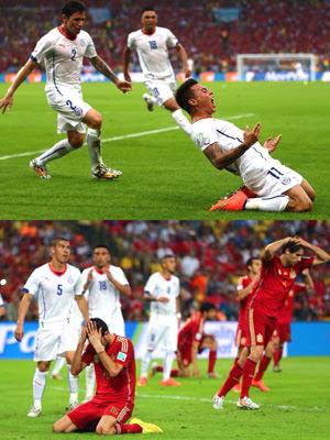 スペイン対チリ