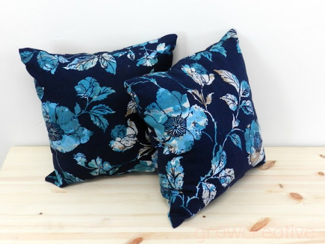 floral pillows made from curtains: growcreative