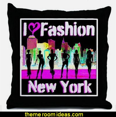 NYC FASHION Throw Pillow