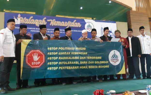 Takmir Masjid Se-DKI Jakarta Deklarasi Tolak Politisasi Masjid