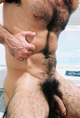 Men with hairy penis