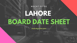 Lahore Borad Date Sheet 2019