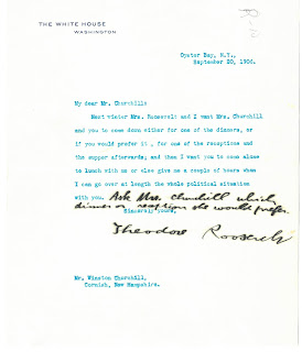 Roosevelt to Churchill, 20 September 1906