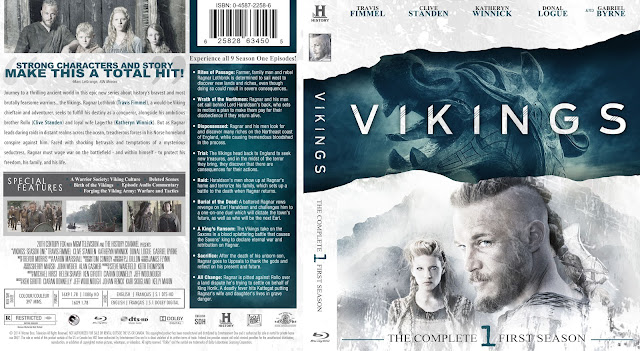 Capa Bluray Vikings Primeira Temporada Completa
