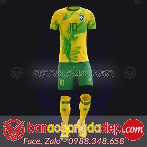 Áo Đội Tuyển Đặt May Theo Yêu Cầu - Mã BRAZIL-02