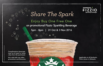 Malaysia Starbucks Fizzio Buy 1 Free 1 Promo