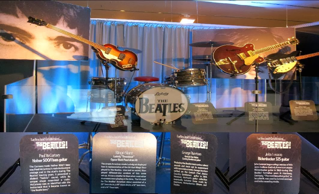 Beatles' instruments and their plaques