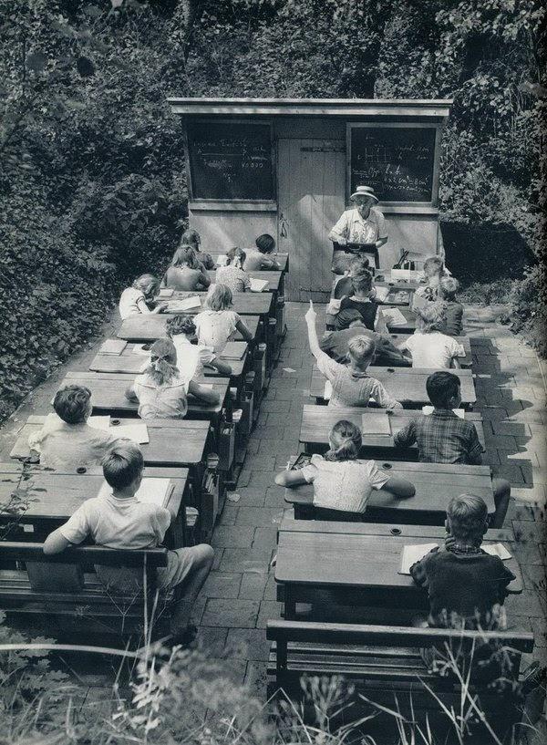 Школа под открытым небом. 1957 год