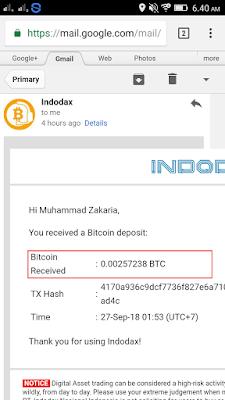 bitcoin gratis dari aplikasi Pivot ke akun indodax