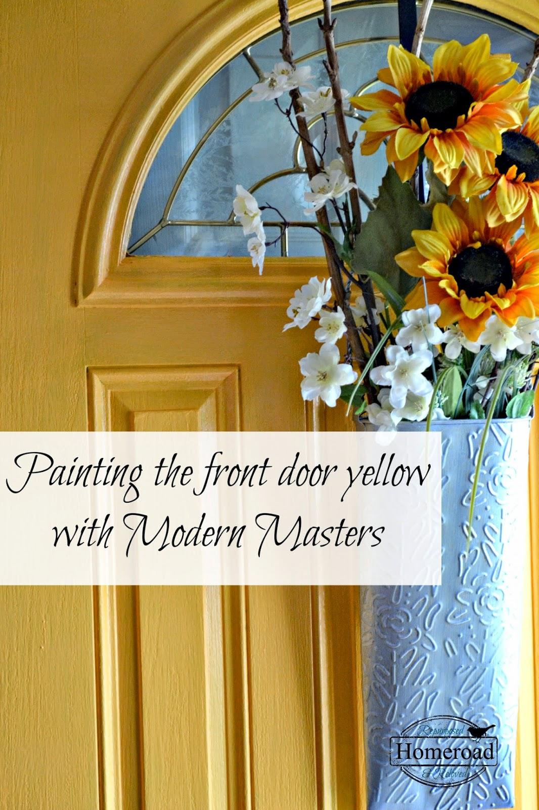 painting-my-front-door-yellow-Modern-Masters www.homeroad.net