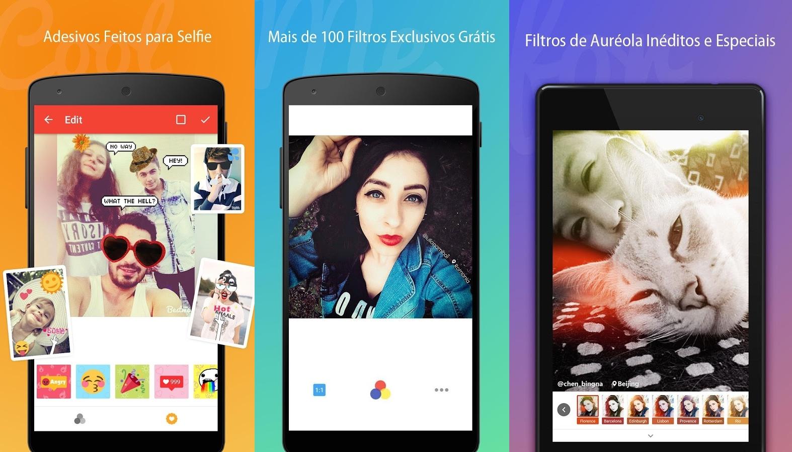Nudes colorida, selfie original e muito mais no melhor aplicativo de câmera para o seu celular
