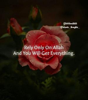 Comptez uniquement sur Allah et vous obtiendrez tout.