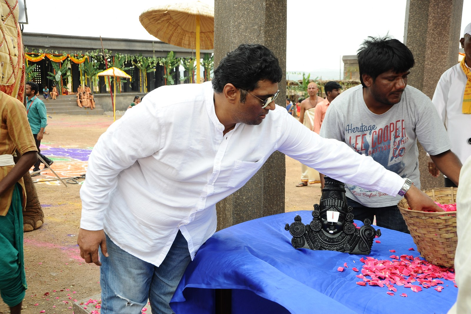 om namo venkatesaya working stills-HQ-Photo-4