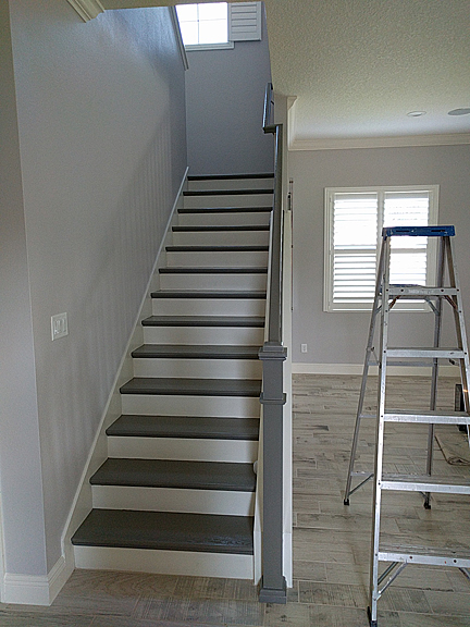 Painting Stairs To Look Like Wood Part One Everything