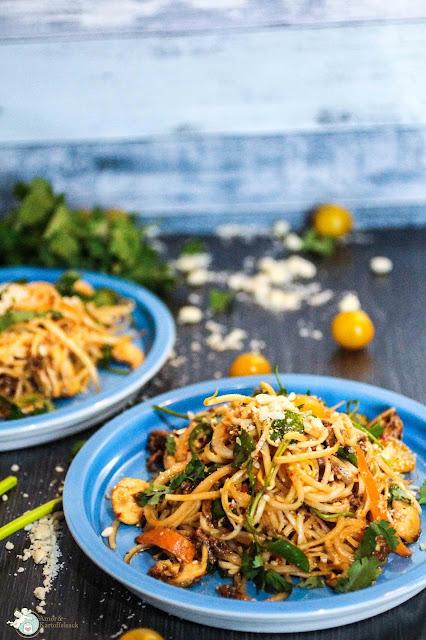 Rezept Salat mit Hackfleisch