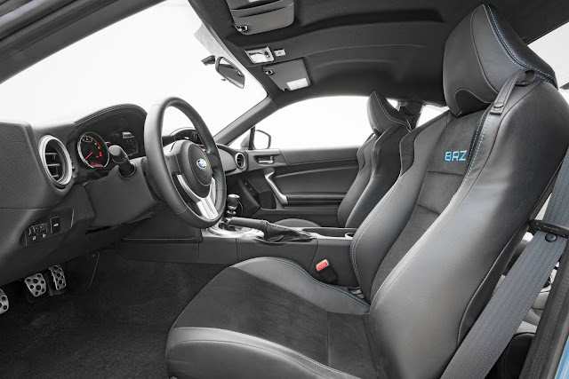 Interior view of 2016 Subaru BRZ Series.HyperBlue