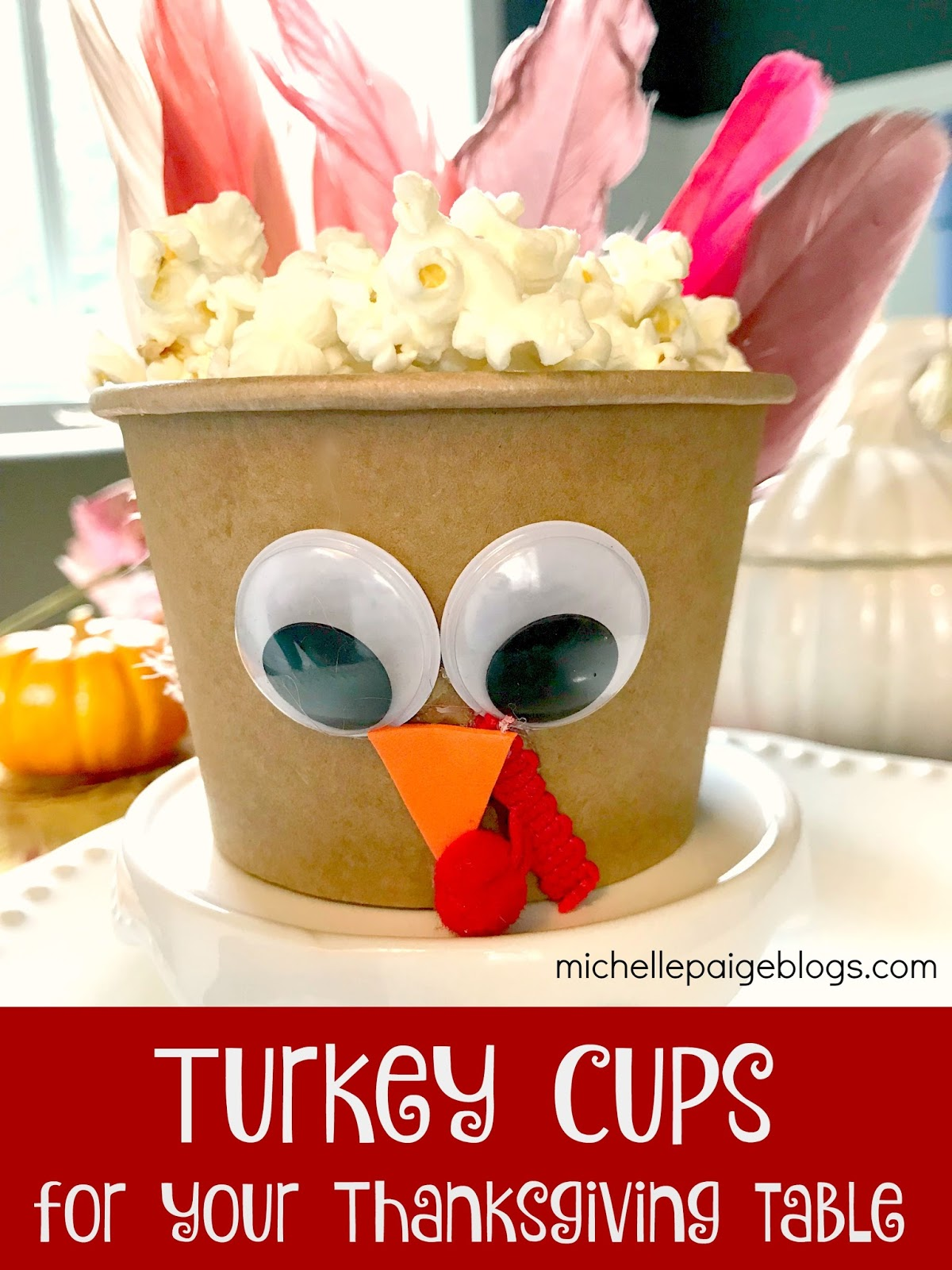 thanksgiving table favors. Make Turkey Cup Favors For Thanksgiving. Thanksgiving Table