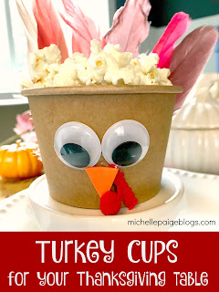 Make turkey cup favors for Thanksgiving.
