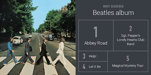 We read the news today, oh boy: It's The Beatles, on Google Play Music