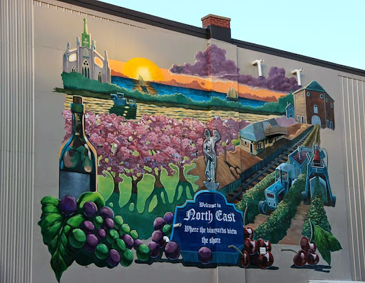 Mural in downtown North East, PA
