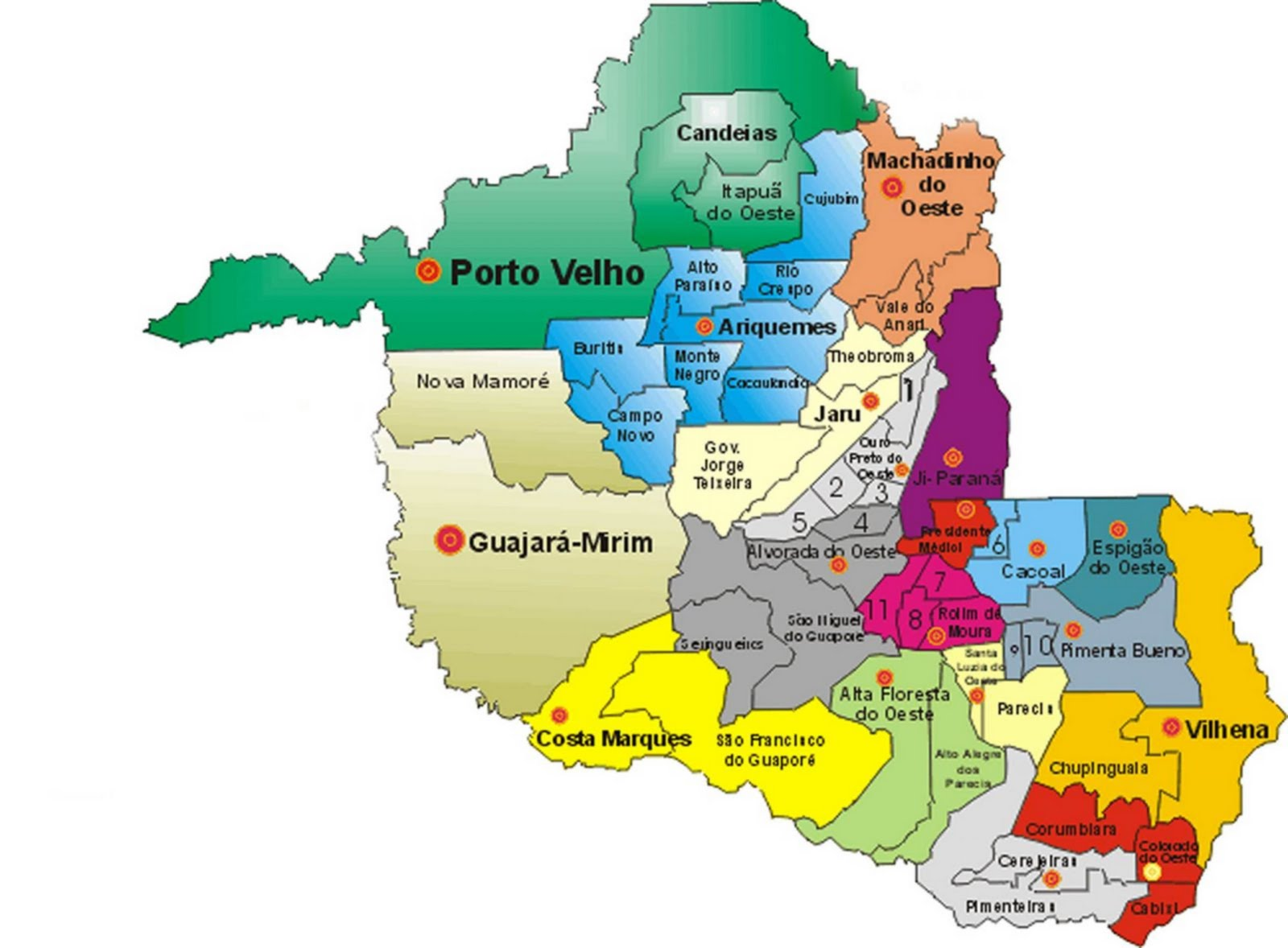 Mapas do Estado de Rondônia
