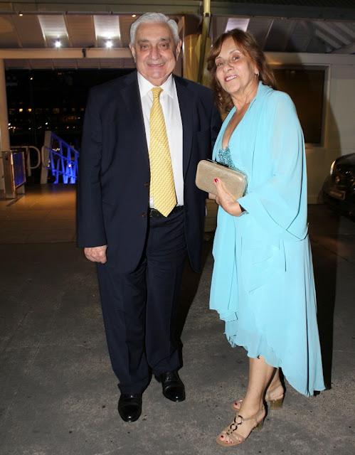 Adelmo Gabbi y Alicia de Gabbi en el Yacht Club Puerto Madero