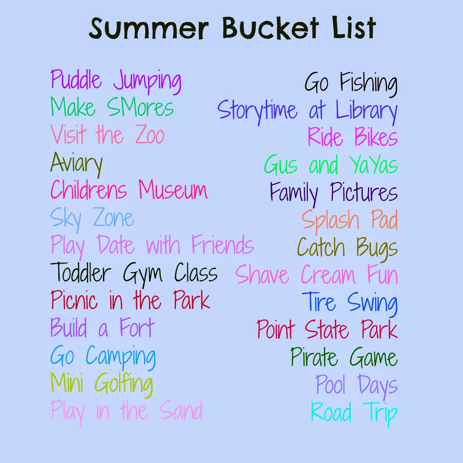 In This Crazy Life Summer Bucket List Progress