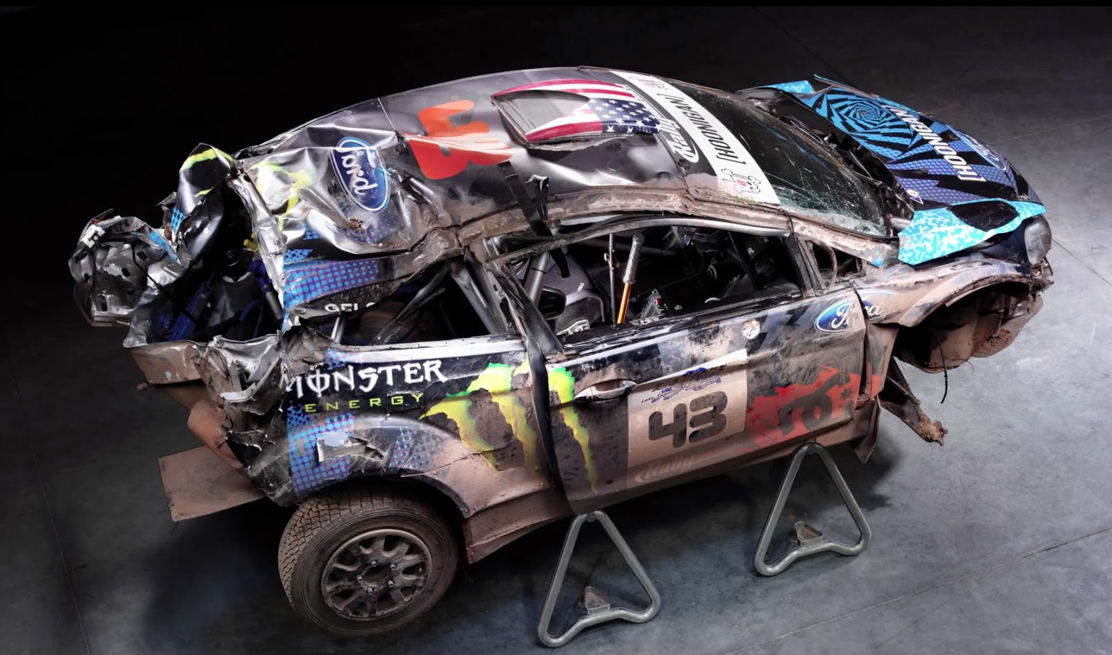 Ford Fiesta Rally Car Ken Block Accident